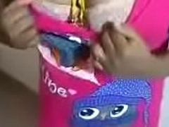Tamil wife pink dress tease