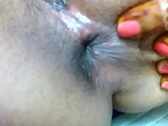 indian girl pooja in like manner her virgin pussy and fingering her tight asshole to her bf.