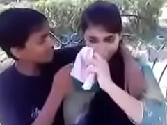 Indian teen kissing and pressing boobs in stage a revive