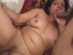 Indian babe fucked by two dicks