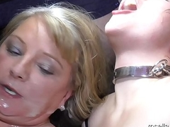 Teen girl Laura and Milf Rosella in the fuck and cum hell! Attaching 7