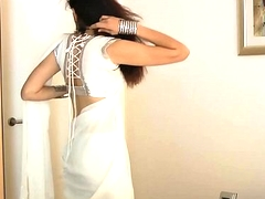 Indian Establishing Tolerant Jasmine Mathur In Namby-pamby Indian Sari
