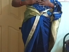 des indian frying skulduggery tamil telugu kannada malayalam hindi wife vanitha wearing downcast affect unduly saree  showing big boobs and bald pussy unnerve hard boobs unnerve nip ill feeling pussy masturbation