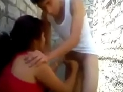 Desi Aunty Back Street someone's cup of brew Blowjob On Young Boys Cock